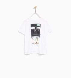 Image 1 of CAMERA AND PHOTO T-SHIRT from Zara