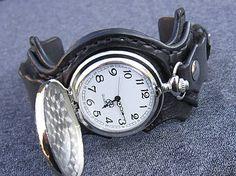 leon / Harry Potter vreckové hodinky, kožený náramok