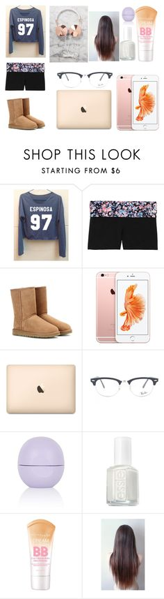 """tour night 1"" by kalieh092 on Polyvore featuring Victoria's Secret, UGG Australia, Ray-Ban, Topshop, Essie and Forever 21"