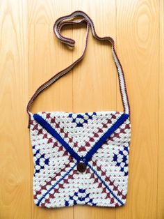 Blue and Purple Bag by Golden Heart Crafts Golden Heart, Heart Crafts, Purple, Blue, Straw Bag, Satchel, Handbags, Women, Totes