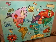 43 best world travel kids crafts images on pinterest crafts for for the back wall fun hand painted canvas of the world from gumiabroncs Images