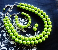 LIME GREEN Bridesmaid Jewelry  Lime Green by WildflowersAndGrace