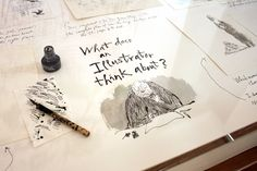 Quentin Blake Inside Stories - Burgess Studio Quentin Blake Illustrations, House Illustration, Tatting, Studio, Serenity, Garage, Layout, Create, Sketch