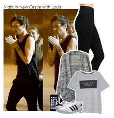 """Night in New Castle with Louis"" by perfectharry ❤ liked on Polyvore featuring MANGO and adidas Originals"