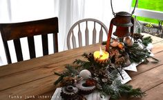 one very rusty christmas centrepiece, crafts, painting, seasonal holiday decor, This year s junk centrepiece came together in about 15 minutes