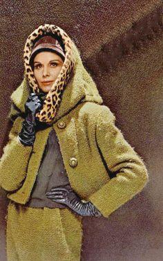 Large Weave Wool Suit, Nina Ricci, photo George Saad, 1962