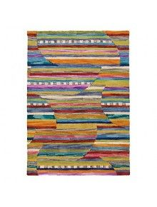 Hand tufted of wool, our Jubilee rug is a kaleidoscope of color and texture. This area rug's colorful mix of horizontal stripes and subtly circular patterns is accented by strips of tufted wool felt for texture to enliven any room. Black Carpet, Green Carpet, Beige Carpet, Diy Carpet, Carpet Colors, Carpet Tiles, Company C Rugs, Carpet Cleaning Business, Types Of Carpet