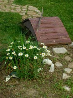 small bridge idea- love this idea for the dog run garden