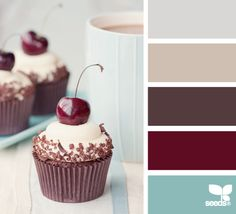 Perfect palate mix of aqua, maroon, cream and grey that I'm aiming for