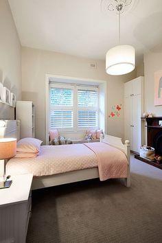 Classy Modern Renovation Transforms Brick Federation House in Melbourne Teenage Girl Bedroom Designs, Home Bedroom, Kids Bedroom, Nursery Room, Bed Room, Bedroom Ideas, Modern Bunk Beds, Melbourne House, Traditional Bedroom