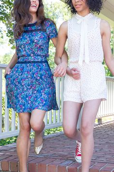 Two-piece outfits have come a long (and stylish) way since twin sets. (Although, twin sets are still pretty cute.) Give your favorite floral dress a rest and opt for a blooming two-piece set instead. Featured product: (left) LC Lauren Conrad soft floral top and matching skirt with pockets in blue and (right) sleeveless pussycat bow blouse and matching shorts from Disney's Alice in Wonderland, a Collection by LC Lauren Conrad. Find the perfect style match at Kohl's.