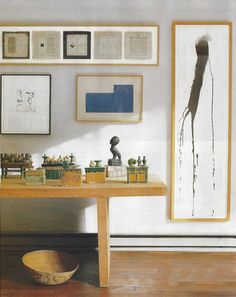 home of pat steir  - elle decor