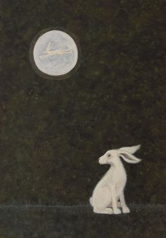 Haunted by the Call by Deborah Sheehy ~ Lunar Hare Archival Art Print
