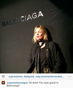 Kate Moss shows up at the Balenciaga show in Paris   Kate Moss Universe