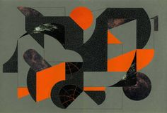 """""""Two Halves of Nothing,"""" original abstract collage by artist Jeffrey Meyer available at Saatchi Art #SaatchiArt"""