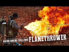 Farmland Bacon Club - BACON COOKING CHALLENGE: FLAMETHROWER