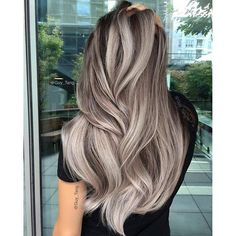 50 stunning ice beige hair color blend for in 2019 Balayage Hair, Ombre Hair, Wavy Hair, Guy Tang Balayage, Beige Blonde Balayage, Pixie Hair, Pastel Hair, Beige Hair Color, Hair Colour