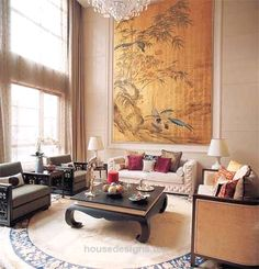 Oriental Chinese Interior Design Asian Inspired Living Room Home Decor Www Inter Http