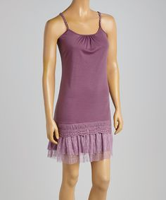 Look what I found on #zulily! Plum Ruffle Shift Tunic by Young Essence #zulilyfinds