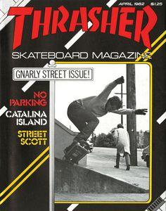 Street Scott shot by Mofo for Thrasher magazine April 1982.