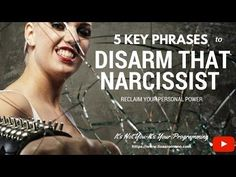 5 Key Phrases You Can Use to Disarm a Narcissist--Reclaim Your Control - YouTube