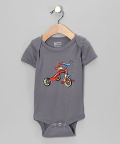 Asphalt Tricycle Organic Short-Sleeve Bodysuit - Infant | Daily deals for moms, babies and kids