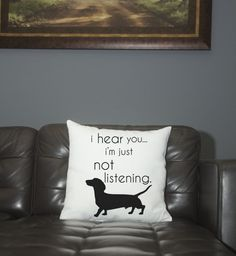 Pillow- Dachshund- not listening