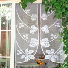 367 immagini incredibili di tende all\'uncinetto | Filet crochet ...