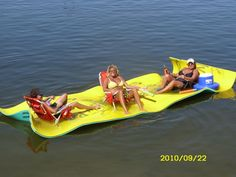 Aqua Lily Pad, Floating Water Mat, Lake Toys For when you'd like to be at the lake, near it, but not quite in it