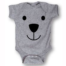 Rompers 2016 Newborn Kids Baby Boys Girl Clothing Cotton Cute Bear Gray Infant Romper Jumpsuit Outfit Summer 3 – 24 Monthes