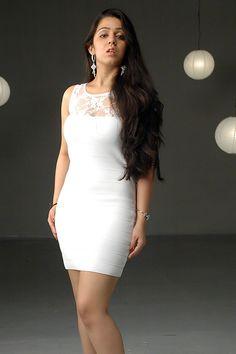 Charmy Kaur, Punjabi Girls, Bollywood Girls, Telugu Cinema, Indian Hairstyles, White Shorts, Short Dresses, White Dress, Photoshoot