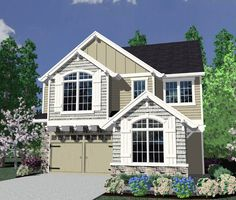 Charming Northwestern House Plan - 85070MS | Northwest, Narrow Lot, 1st Floor Master Suite, 2nd Floor Master Suite, CAD Available, In-Law Suite, PDF, Split Bedrooms | Architectural Designs