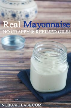 Real Mayonnaise - I added about ¼ cup more oil to make it the perfect consistency for our tastes and it worked beautifully!
