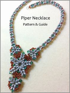 Beading pattern instructions, beading tutorials and patterns, beaded pendant, necklace patterns, superduo bead patterns, DIY jewelry, PDF