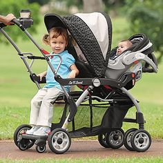 Sit n Stand Baby Stroller - One Step Ahead Baby. Great for older sibling too.#Baby #mom #kids #Stroller #Best