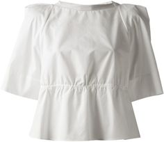 See By Chloé Short Sleeve Blouse in White - Lyst White Short Sleeve Blouse, See By Chloe, White Shorts, Sleeves, Mens Tops, T Shirt, Clothes, Women, Fashion