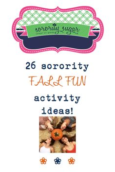 Celebrate the season with these FUN sisterhood social ideas from sorority sugar! <3 BLOG LINK: http://sororitysugar.tumblr.com/post/131418453659/26-sorority-fall-fun-ideas-zombie-walk-on#notes