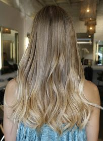 Nice natural blonde ombre