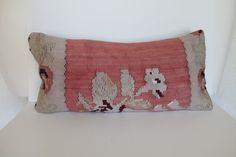 Kilim Pillow 12X24 anatolian patchwork ethnic pillow by MissDilaa