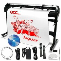 """GCC Jaguar V LX 72"""" Pro Vinyl Cutter With Stand Commercial Signs, Swing Design, Oracal Vinyl, Transfer Tape, Free Gift Cards, Vinyl Cutter, Vinyl Crafts, Adhesive Vinyl"""