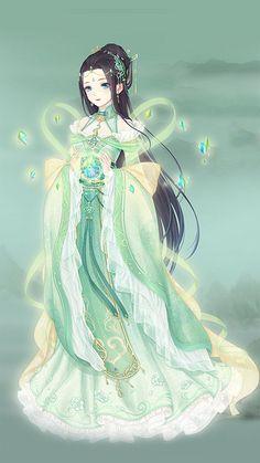 Tea green anime art anime pinterest anime teas for Anime wedding dress up games