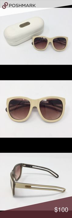 Chloe Ivory Sunglasses Chloe ivory/cream frames. 100% authentic. Great condition, gently used. Comes with case and cloth. Chloe Accessories Sunglasses