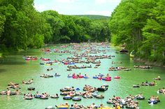 Beat the heat with a float down the Guadalupe and Comal rivers in Texas!