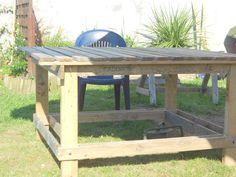 Faire un salon de jardin en palette | Wooden pallets, Pallets and ...
