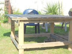 Table de jardin en palettes de récup' Instructions...