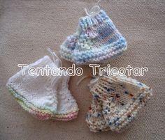 Tentando Tricotar: Sapatinho de bebê rápido