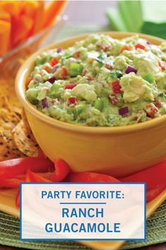 This Game Day Ranch Guacamole has a secret ingredient that your party guests are sure to love. Combine avocados, chile peppers, lime juice, and ranch seasoning to create this classic appetizer dip. Inspired Gathering has the full easy recipe—just in time for your upcoming watch party.