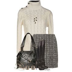 Tweed Skirt and Sweater, created by jackie22 on Polyvore