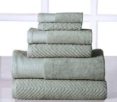 Sage Green Egyptian Cotton Bath Towel Set
