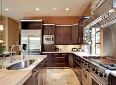 Prairie Photo Plan #132-221 - Houseplans.com  Love the stove!!!!